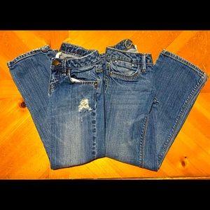 2 pair of Girl's Gap Jeans